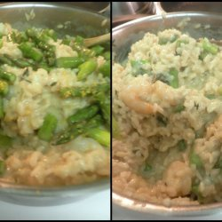 Asparagus Risotto With Shrimp and Lemon