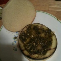 Pesto & Havarti Grilled Eggplant Burgers