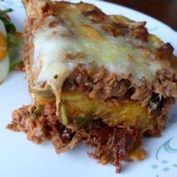 Pastelón (Sweet Plantain  Lasagna )