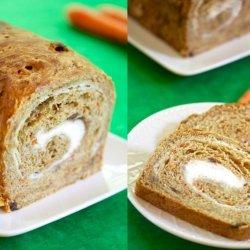 Carrot Cake Swirl Bread