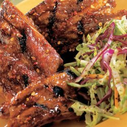 Hot Tempered Baby Back Ribs With Sweet Guava Glaze