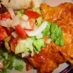 New Mexico Red Chile Chicken Enchilada Casserole