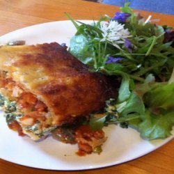 Roast Vegetable, Spinach and Ricotta Lasagna (Modified)