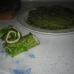 Spinach Tortillas - Green and Yummy!