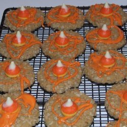Kisses Candy Corn Autumn Cookies recipe