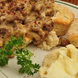 Spicy Sausage Gravy & Biscuits