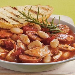 Slow Cooker Chicken and White Bean Stew