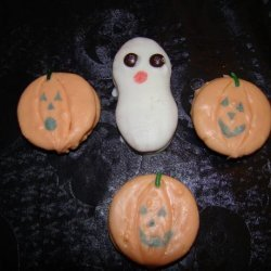 Cute Non-Pumpkin Jack O' Lantern Cookies