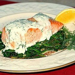 Salmon Grilled With Dill Sauce