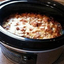 Slow Cooker Ham and Scalloped Potatoes recipe