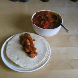 Chicken With Rio Grande Sauce in Tortillas