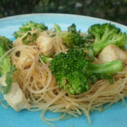 Broccoli and Chicken Noodle Bowl