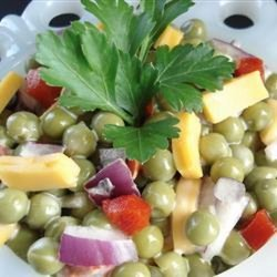 Mom's Pea Salad recipe