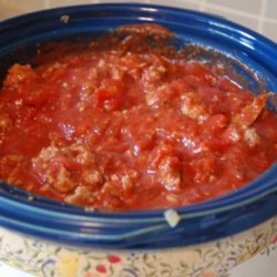 Lazy Day Turkey Meat Sauce (For Spaghetti)