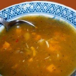 Chicken, Sweet Potato Soup