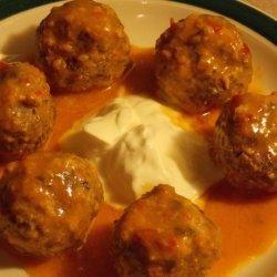 Buffalo Meatballs in a Sweet & Spicy Orange Sauce