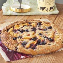 Peach With Blueberry Pie