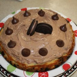 Vanilla Cheesecake With Chocolate Mousse Topping recipe