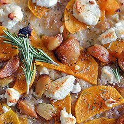 Roasted Butternut Squash With Tahini