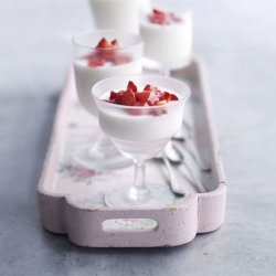 Mousse with Strawberry Sauce