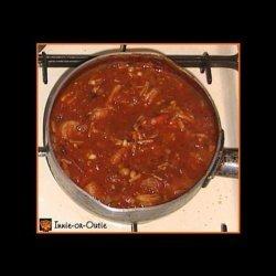 Arugula-Carrot Rice With Shrimp-Tomato Sauce