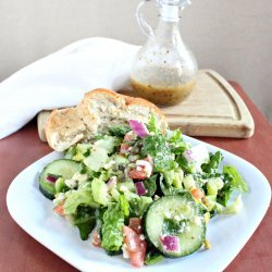 Greek Salad and Dressing
