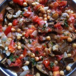 Musaka'a (Palestinian Eggplant Baked With Tomatoes and Chickpeas recipe