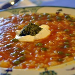 Pea and Tomato Soup
