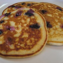 Gluten-Free Lemon-Blueberry Pancakes