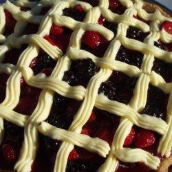Triple Berry Cream Cake Pie