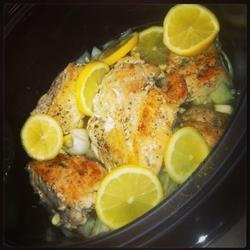 Slow Cooker Lemon and Thyme Chicken
