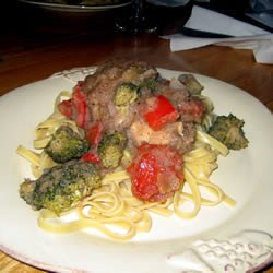 Pasta with Pork and Apple Sauce