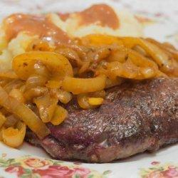 Sirloin Steak With Moroccan Onions