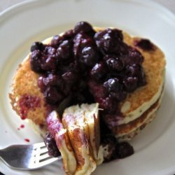 Lemon-Ricotta Pancakes With Fresh Blueberries