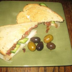 Bacon, Cucumber and Heirloom Tomato Sandwich With Herbal Mayo