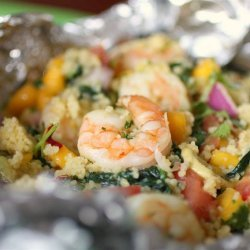 Mexican Seafood Saute With Avocado-Mango Salsa