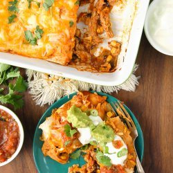 Chipotle and Green Chile Chicken Enchiladas