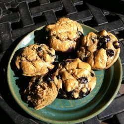 Easy Low-Carb Lemon Blueberry Nut Butter Muffins