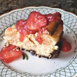 Corby's Cheesecake With Strawberry Sauce