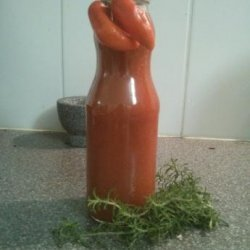 Red Hot Homemade Ghost Chile Hot Sauce