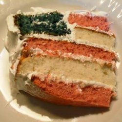 Red, White & Blue Layered Cake