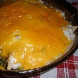 Saucy Chicken and Asparagus Bake