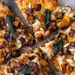 Roasted Butternut Squash With Caramelized Onions, Gorgonzola and