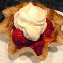 Fresh Fruit in Baked Tortilla Shell