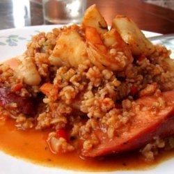 Cajun Jambalaya With Catfish, Scallops and Shrimp
