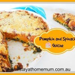 Spinach Pumpkin Quiche