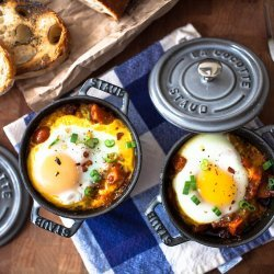 Crepes With Baked Eggs