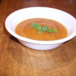 healthy  Cream of Fire-Roasted Tomato Soup