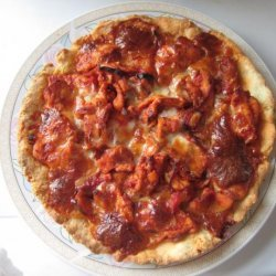 Chicken With Parmesan Cheese Pizza