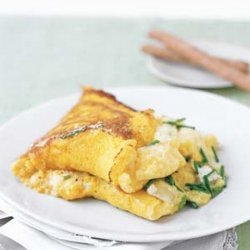 Fluffy Corn and Goat Cheese Omelets
